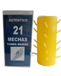 Velón 21 mechas amarillo