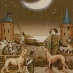 18 The Moon Bruegel Tarot by Guido Zibordi Marchesi