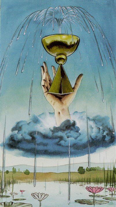 36 Ace of Cups Initiatory Tarots of the Golden Dawn   The