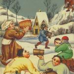 41 6 of Cups Bruegel Tarot by Guido Zibordi Marchesi