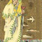 60 Page of Swords The Medieval Scapini Tarot