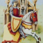 61 Knight of Swords Old English Tarot deck by Maggie Kneen