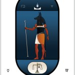 Navy Blue Egyptian Tarot deck