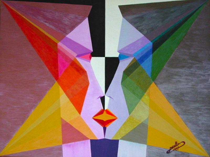 Michaël Bellon's Tarot 6 The Lovers