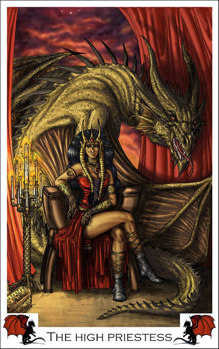 Dragon Tarot by Alecan 2 The High Priestess | The Unified