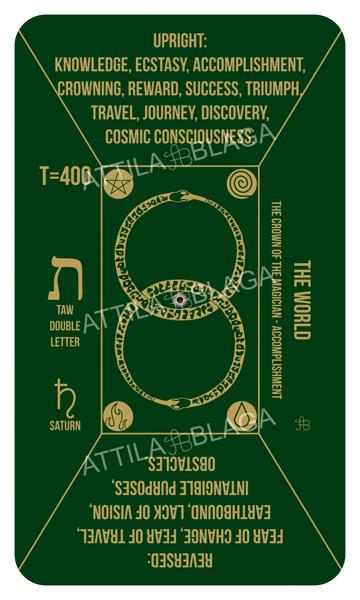 Traditional Divinatory Tarot, The World