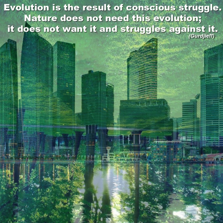 Evolution is the result of conscious struggle