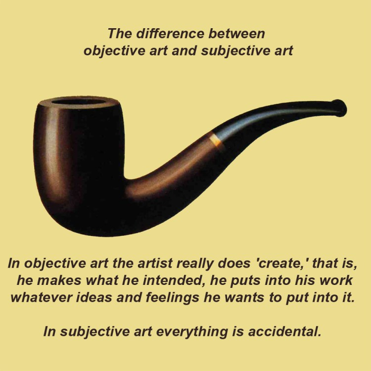 The difference between objective art and subjective art