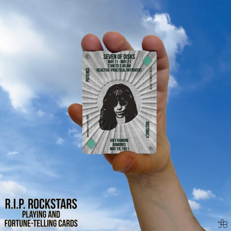 RIP Rockstars Seven of Disks Joey Ramone