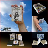 R.I.P. Rockstars Playing and Fortune-telling Cards