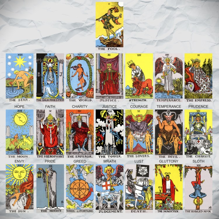 The alternative architecture of the Major Arcana
