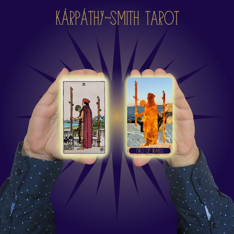 Karpathy-Smith Tarot Two of Wands