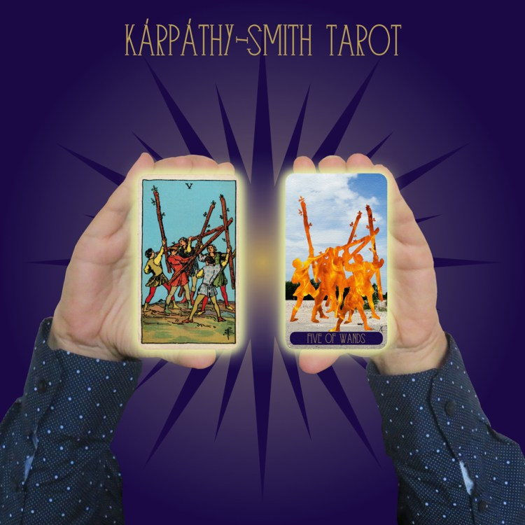 Karpathy-Smith Tarot Five of Wands