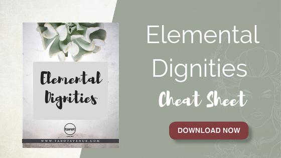 Elemental Dignities Cheat Sheet