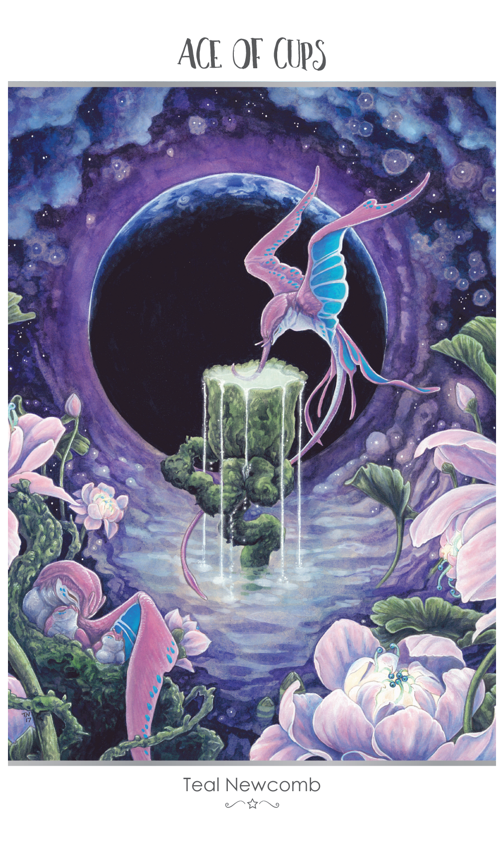 Featured Card of the Day – Ace of Cups – 78 Tarot Astral ~ Tarot in