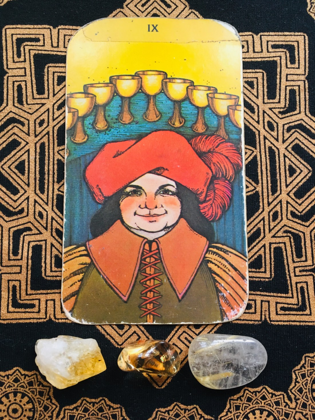 nine of cups happiness tarot card