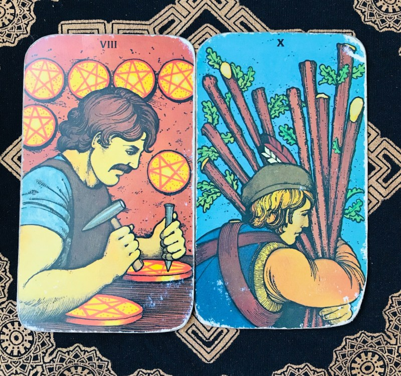 Tarot cards meaning challenges.