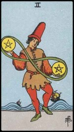 2 of pentacles - August 2014 Forecast