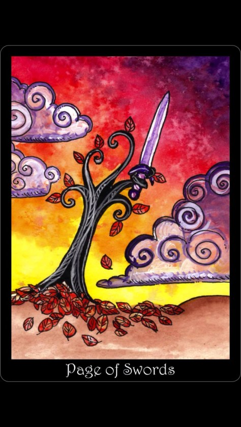 Page of Swords - Tarot of Trees