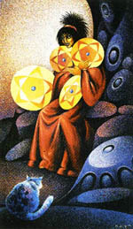 4 of Pentacles - Cat People Tarot