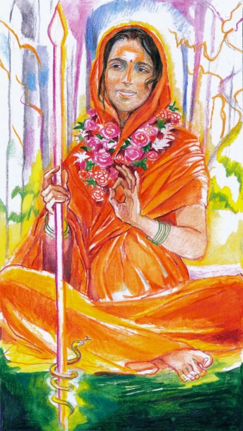 Queen of Wands - Sacred India Tarot