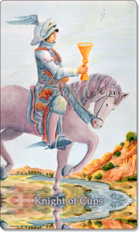Image of The Knight of Cups card
