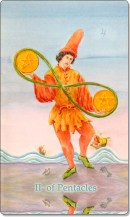 Image of The Two of Pentacles card