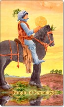 Image of The Knight of Pentacles card