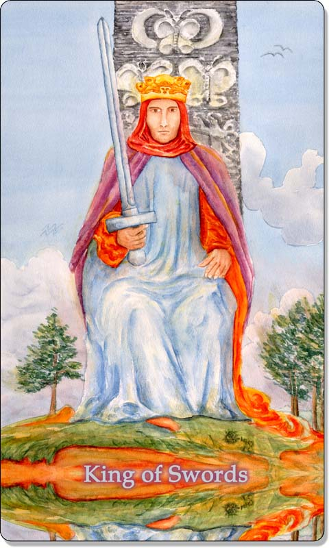 Image of The King of Swords card