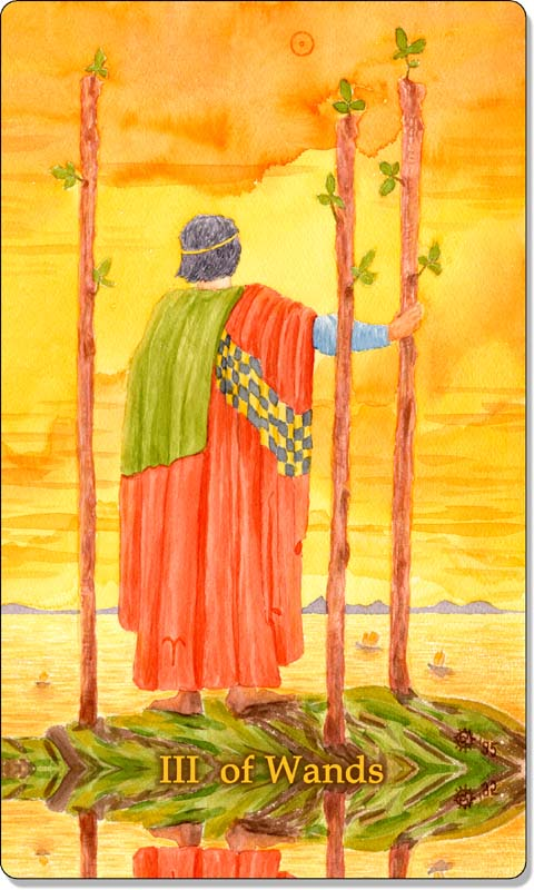 Image of The Three of Wands card