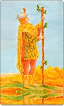 Image of The Page of Wands card