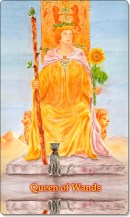 Image of The Queen of Wands card