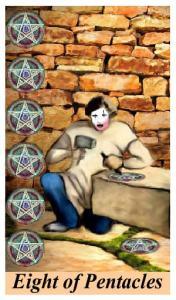 EIGHT OF PENTACLES TAROT CARD. How Tarot can improve your love life!