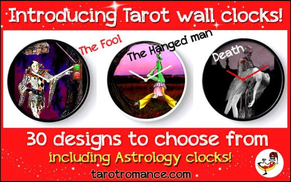 Tarot Wall Clocks!