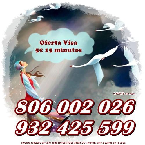 Visa desde 5 € 10 minutos. Tarot, astrología y videncia 0,42 cm min.