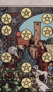 10 Münzen im Tarot von Waite-Smith