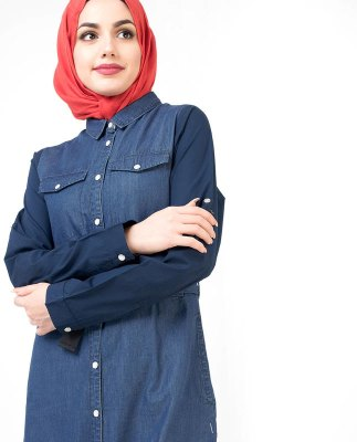 Denim Abaya And Turkish Coats Online In Pakistan - Tarseel pk