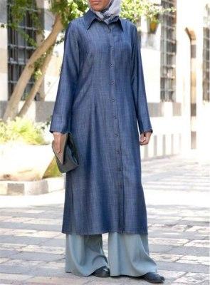 Stylish-Summer-Friendly-Denim-Abaya-Designs-2018