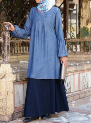 Stylish-Summer-Friendly-Denim-Abaya-Turkish-CoatsDesigns-2018