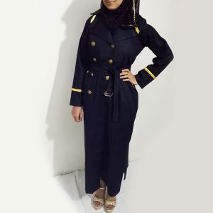 Denim-Abaya-Black-Buttoned-Style-Coat-Collar