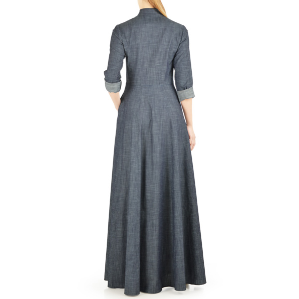 Grey-Summer-Wear-Maxi-Style-Denim-Abaya-Online-In-Pakistan