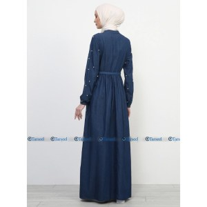 Denim Abaya Back