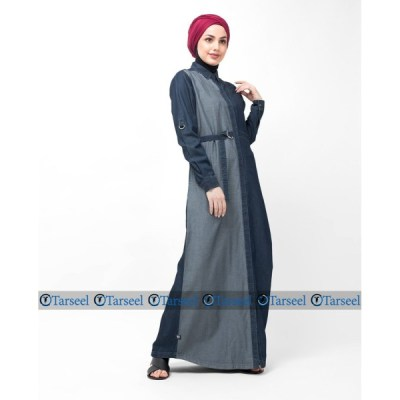 Reversible Abaya With Side Belted