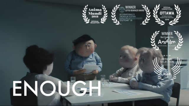 Enough, il geniale cortometraggio in stop-motion di Anna Mantzaris