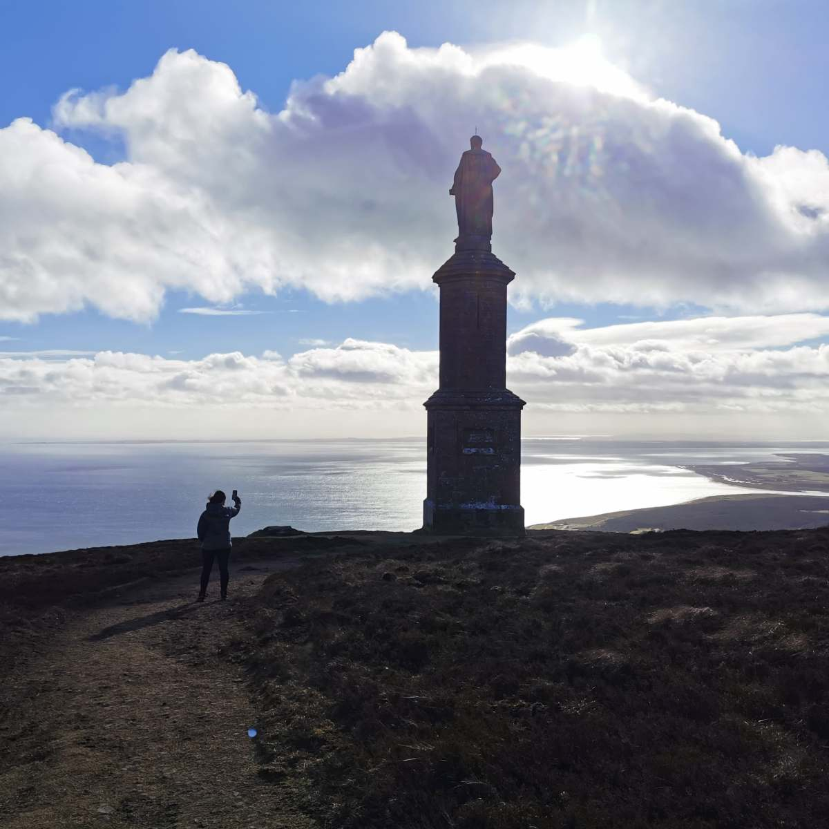 Statue at the top of Ben Bhraggie