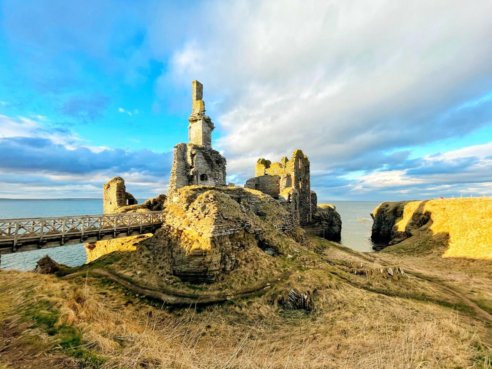 Bright Sky and Ruin of Castle Sinclair