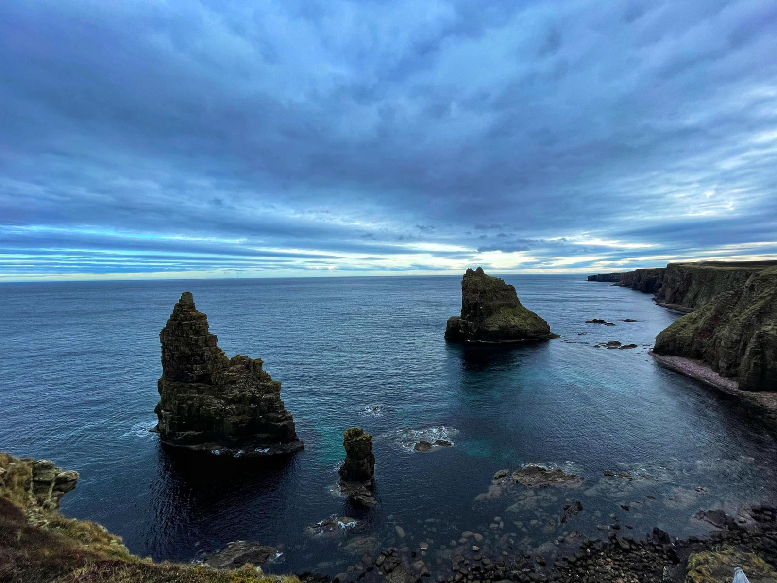 Two sea stacks at Duncansby head