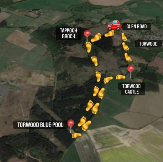 Torwood route map