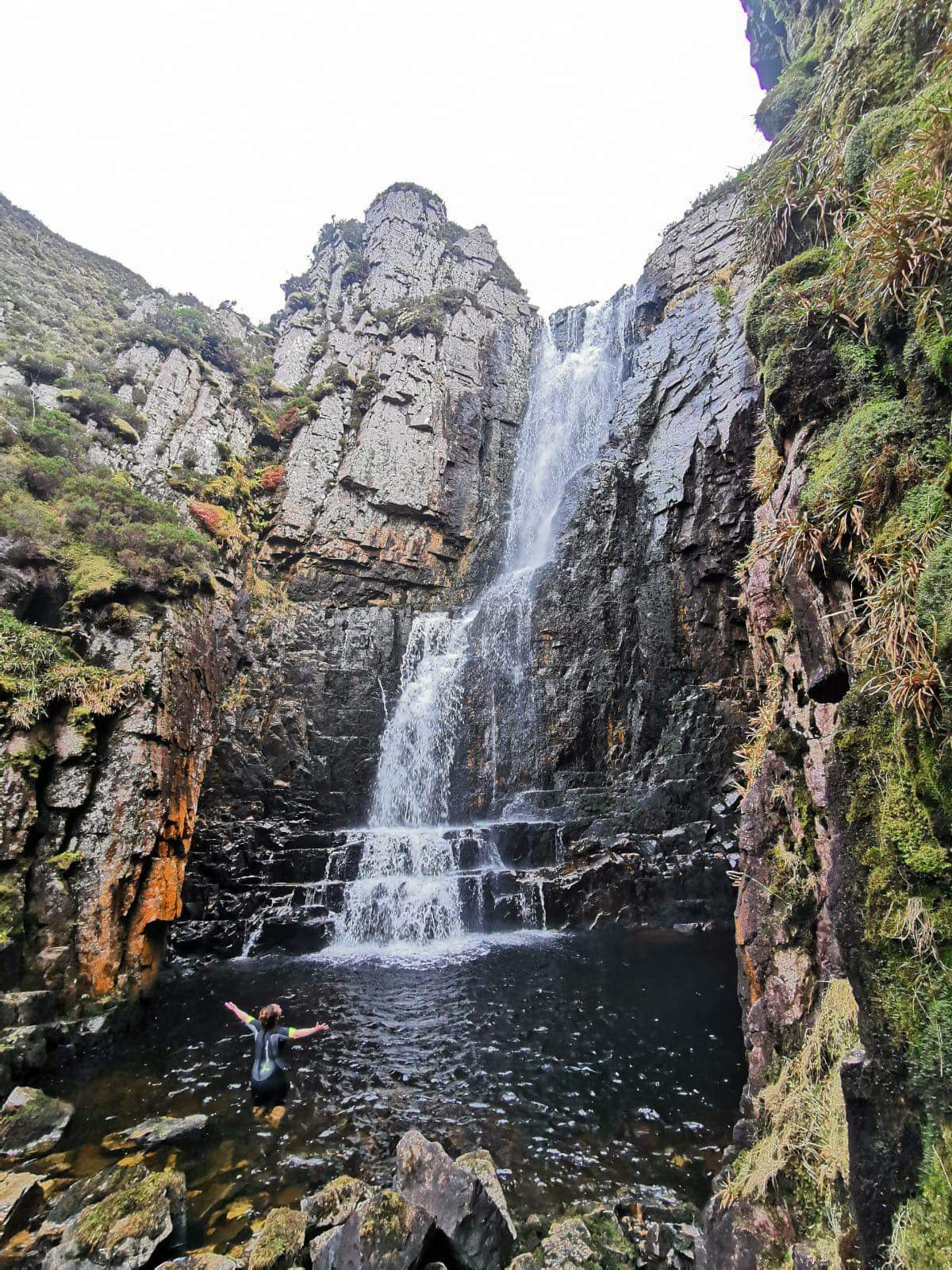 Wailing Widow Waterfall pool NC500