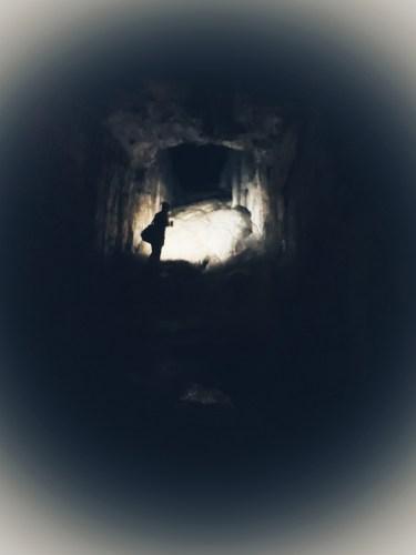 darkness inside spar cave
